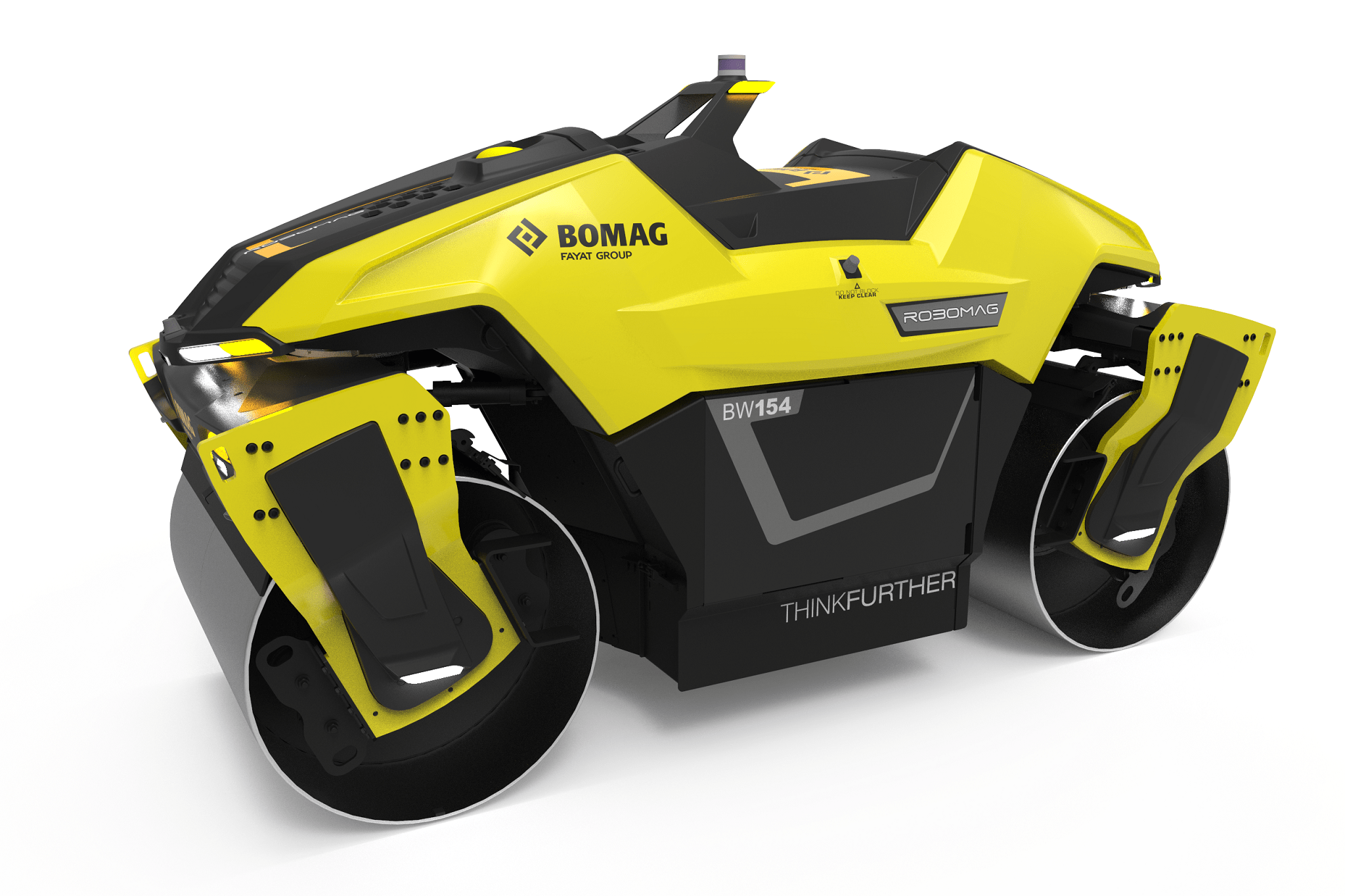 El rodillo tándem Robomag , ganador del premio de diseño If Design 2020