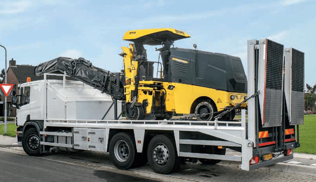 transporte máquina fresadora