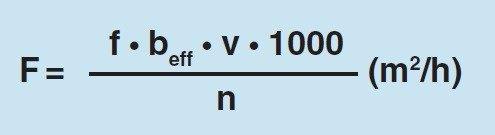 formula rendimiento de compactación